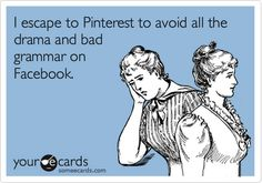 5 minutes on facebook, 5 hours on pinterest!