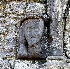What's that? Medieval head, Dunmore, Co. Galway, Ireland