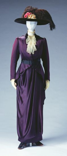 Day Dress, Pierre Bulloz, Paris, France: ca. 1910, silk satin bodice and skirt