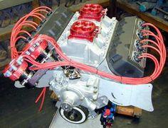 "Mopar Hemi-Head ""RB"" - '528' - 2x4 Carburetor ""Inline"" Intake. Hemi Engine, Car Engine, Custom Rat Rods, Bone Stock, Aircraft Engine, Race Engines, Combustion Engine, Hot Rides, Motors"