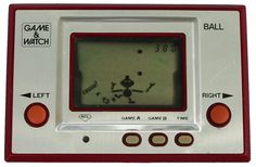"""Game & Watch. Yep, the ancestor of the Gameboy, DS, and PSP. Only one game per gadget! (This one features """"Ball"""".)"""