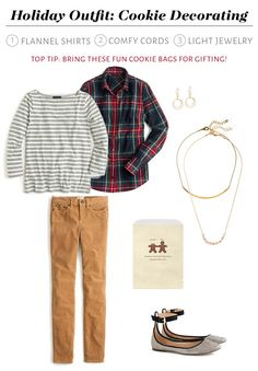 Casual Holiday Outfit - classic Christmas tartan shirt!