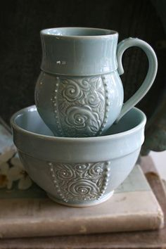 I believe that experiencing beauty is essential to life, and I value investing my work with human touch, enduring quality, and fine craftsmanship. Glazes For Pottery, Pottery Mugs, Pottery Bowls, Ceramic Pottery, Pottery Art, Ceramic Decor, Ceramic Cups, Ceramic Art, Pottery Painting Designs