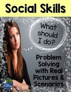 Social skills for problem solving designed for this author's Social Skills Interpreting Facial Expressions unit, appropriate 33 real-life pictures for grade. This can be used to encourage Social skills and communication skills. Social Skills Autism, Social Skills Activities, Teaching Social Skills, Autism Activities, Speech Therapy Activities, Language Activities, Perspective Taking, Peer Pressure, Social Thinking