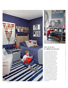 El Mercurio - Revista VD New Room, Toddler Bed, Kids Rugs, Boys, Bedrooms, Furniture, Home Decor, Kid Bedrooms, Sweet Dreams