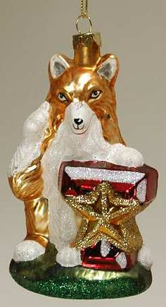 Texas A & M Aggies-Mascot - Boxed in the Glasscot Ornaments pattern by Slavic Treasures