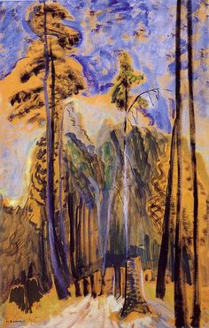 Forest (oil on paper) 1940, Emily Carr