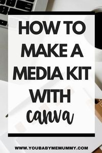 Need a media kit for your blog? Short of time or lacking design skills? This tutorial will show you how to create one in no time at all