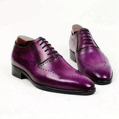 20ddd622a06 cie round toe oxford patina purple narrow shoe last calf leather breathable  bespoke men shoe handmade flat