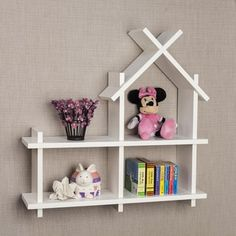 Transcendent Dog House with Recycled Pallets Ideas. Adorable Dog House with Recycled Pallets Ideas. White Wall Shelves, Wall Mounted Shelves, Kids Wall Shelves, Wall Shelves Design, Wood Pallet Furniture, Kids Furniture, Furniture Projects, Recycled Pallets, Wood Pallets