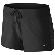 "Bought these today and I'm obsessed! Nike Dri-Fit 2"" Ruched Knit Running Short - Women's - Black/Metallic"