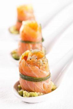 Smoked Salmon with avocado #plating #presentation
