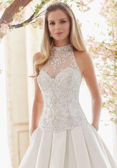 Mori Lee Bridal Madeline Gardner Crystal Beaded and Embroidered Wedding Dress Bodice | Morilee
