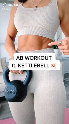 Gym Workout Videos, Easy Workouts, Heath And Fitness, Fitness At Home, Fitness Goals, Fitness Motivation, Video Sport, Fit Girl, Kettlebells