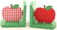 apple decor | Apple Bookends Its a fun decor trend; apples, apples, apples part 1