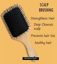 Hair brushing is important for hair and scalp health. It eliminates waste materials (uric acid, catarrh, and debris) and stimulates hair follicles to prevent hair loss and promote hair growth..