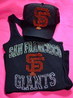 San francisco giants rhinestone hat and tank top $40.00