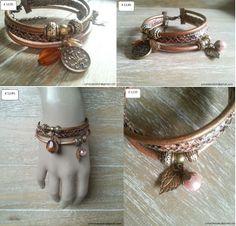 Armband Snake,  bestaat uit twee leren veters en een veter met slangen print. Aan de armband hangen verschillende bedels en glaskralen. De armband is 18 cm en heeft een verleng ketting van 2cm.
