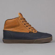 Vans Switchback CA (Water Resistant) Dark Navy / Cathay Spice Via @svpply #vans #boots #waterresistant