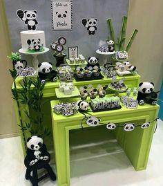 Panda Birthday Cake, 1st Boy Birthday, Boy Birthday Parties, Panda Decorations, Kids Party Decorations, Party Themes, Panda Themed Party, Panda Party, Baby Shower Fun