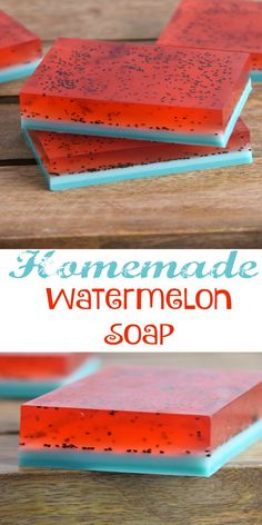 Homemade Watermelon Soap Collage1