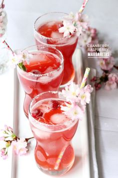 Cranberry Raspberry Margarita: http://www.stylemepretty.com/living/2015/04/29/12-must-try-margaritas-for-your-cinco-de-mayo-fiesta/