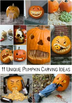 11 unique pumpkin carving ideas Love the one who's drunk and throwing up