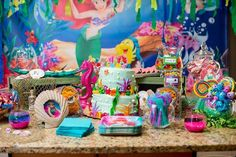 Little Mermaid Birthday Party Ideas| Disney Inspired Party|Disney Party Ideas| Kid Party Ideas