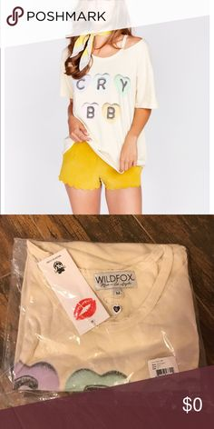 WILDFOX CRY BB ALUMNI TEE NWT! This one is fun💖& cute~great candy hearts for Valentines💋 Wildfox Tops Tees - Short Sleeve