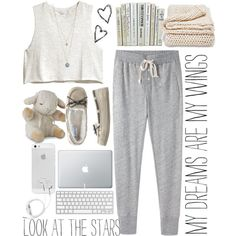 Designer Clothes, Shoes & Bags for Women Cute Lazy Outfits, Simple Outfits, Lounge Outfit, Lounge Wear, Teen Fashion Outfits, Outfits For Teens, Cute Pjs, Cozy Pajamas, Pajama Outfits