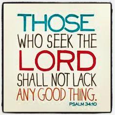 Psalm 34:10 Amen !