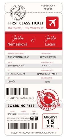 First Class Tickets, Boarding Pass, Names, Wedding, Valentines Day Weddings, Weddings, Marriage, Chartreuse Wedding