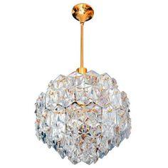 Brilliant Ball Gold Glass Chandelier