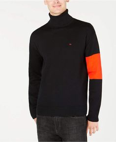 dc136d33099 Calvin Klein Jeans Men s Colorblocked Turtleneck Sweater   Reviews -  Sweaters - Men - Macy s