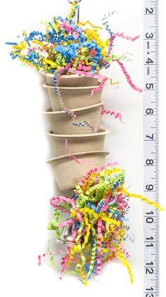 Mini Wiggler Foraging Cups Parrot Toys and Bird Toy Parts by Homemade Bird Toys, Diy Bird Toys, Natural Cups, Parakeet Toys, Zoo Toys, Budgies, Parrots, Bird Aviary, Parrot Toys