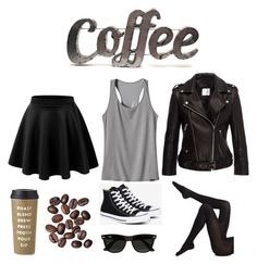 """""""Coffee☕️"""" by jem199914 on Polyvore featuring moda, Patagonia, Anine Bing, Converse, Wolford, Ray-Ban, Kate Spade y Rustic Arrow"""