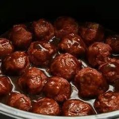 Grape Jelly Meatballs.      2 12oz chili sauce ( hunts) 1 jar grape jelly 32oz, 1 package frozen meatballs (about 80 to 100 meatballs) put everything in crockpot and cook on low 3 to 4 hours. Super easy, super good. They will be a big hit at any party trust me