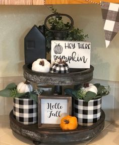 Thanksgiving Decorations, Seasonal Decor, Fall Decorations, Fall Home Decor, Autumn Home, Coffee Bar Home, Tiered Stand, Farmhouse Kitchen Decor, Farmhouse Style