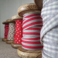 Love the red and grey ribbon bundle