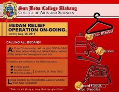 San Beda College Alabang Relief efforts
