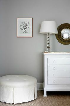 Sage Design: Cool gray walls paint color