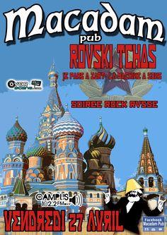 Soirée Rock Russe avec Rouski Tchas de RCM