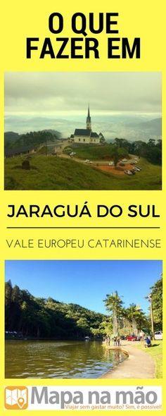 3 atrações em Jaraguá do Sul - Vale Europeu catarinense - Mapa na mão