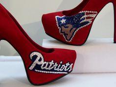 NEW ENGLAND PATRIOTS Custom Made High Heels All by KUSTOMKICKZ, $110.00