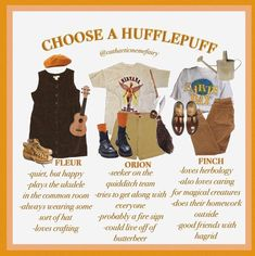 hufflepuff is the least problematic of all of the houses lol Aesthetic Fashion, Aesthetic Clothes, Harry Potter Kleidung, Harry Potter Outfits, Cool Outfits, Fashion Outfits, Zooey Deschanel, Mode Inspiration, Look Cool