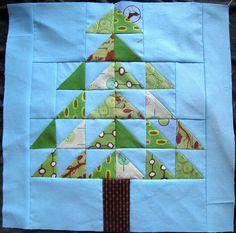 Tree quilt block