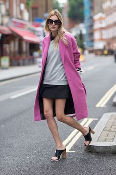 Street Style London Pink Blazer Color Pop Street Style - pictures, photos, images