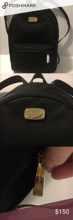"Michael Kors Large Jersey Backpack, NWT Nylon exterior, leather straps, adjustable shoulder straps, height- 17"" depth- 6"" length- 12"" Michael Kors Bags Backpacks"