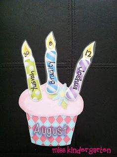 Miss Kindergarten: Birthday Bulletin Board