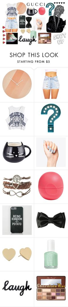 """Brenna <3"" by juststopandbreath on Polyvore featuring Room Essentials, Gucci, Eos, Kate Spade, Essie and Too Faced Cosmetics"